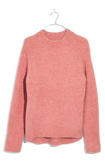 0a242e8463e Madewell Northfield Mock Neck Sweater In Heather Poinsettia