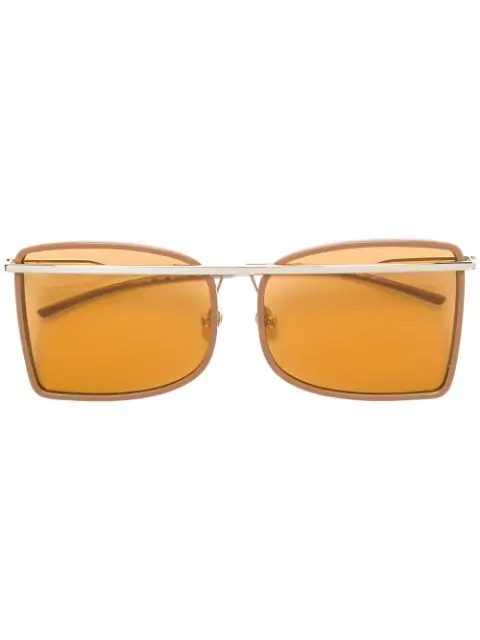 Calvin Klein Deco Brow-bar Sunglasses In Neutrals