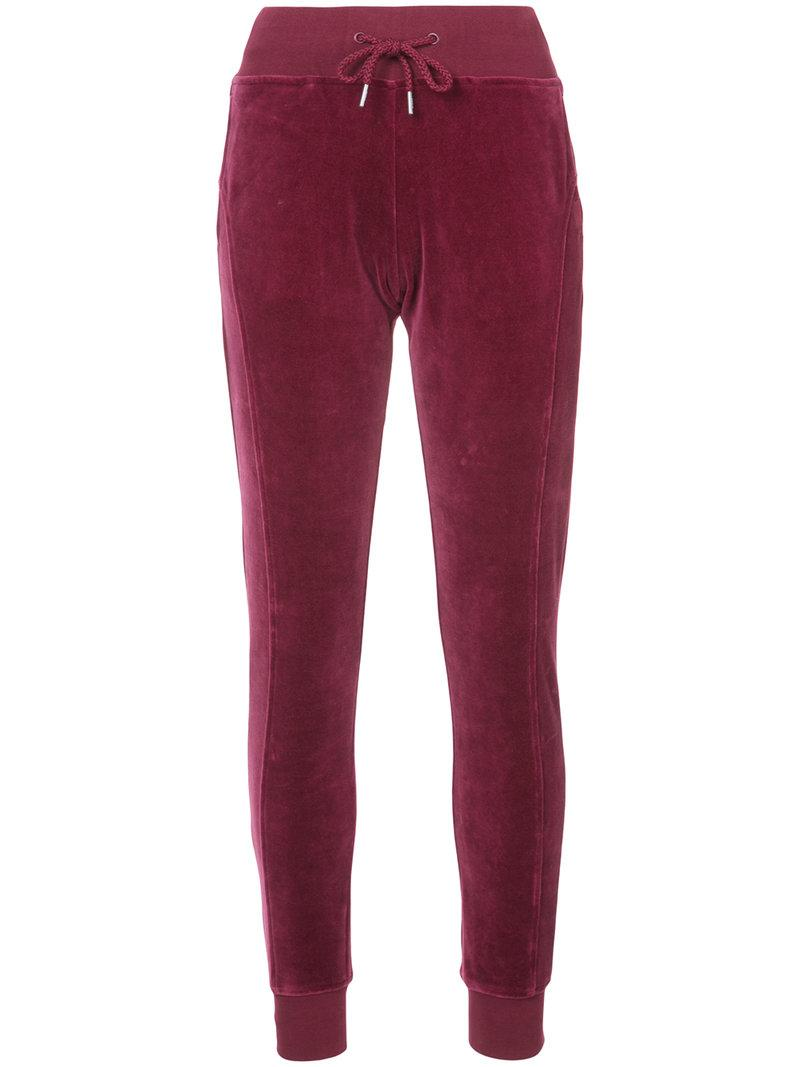 6c6abf4c963 FITTED VELOUR JOGGERS