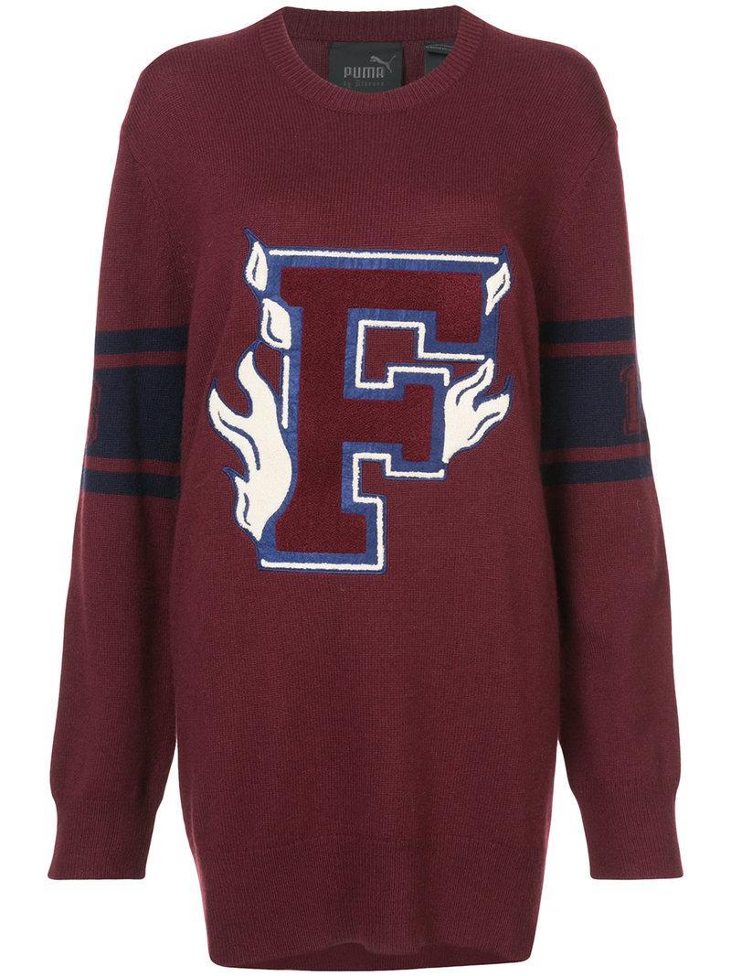 265709261ffa Fenty X Puma Fenty Puma By Rihanna Oversized Sweater In Red