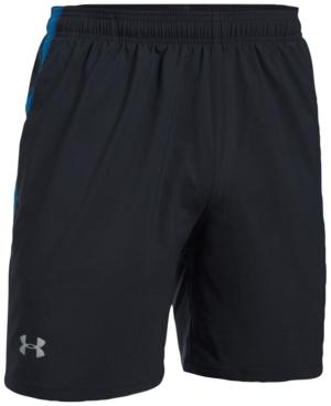 "Under Armour Men's Launch 7"" Running Shorts In Black/Light Blue"