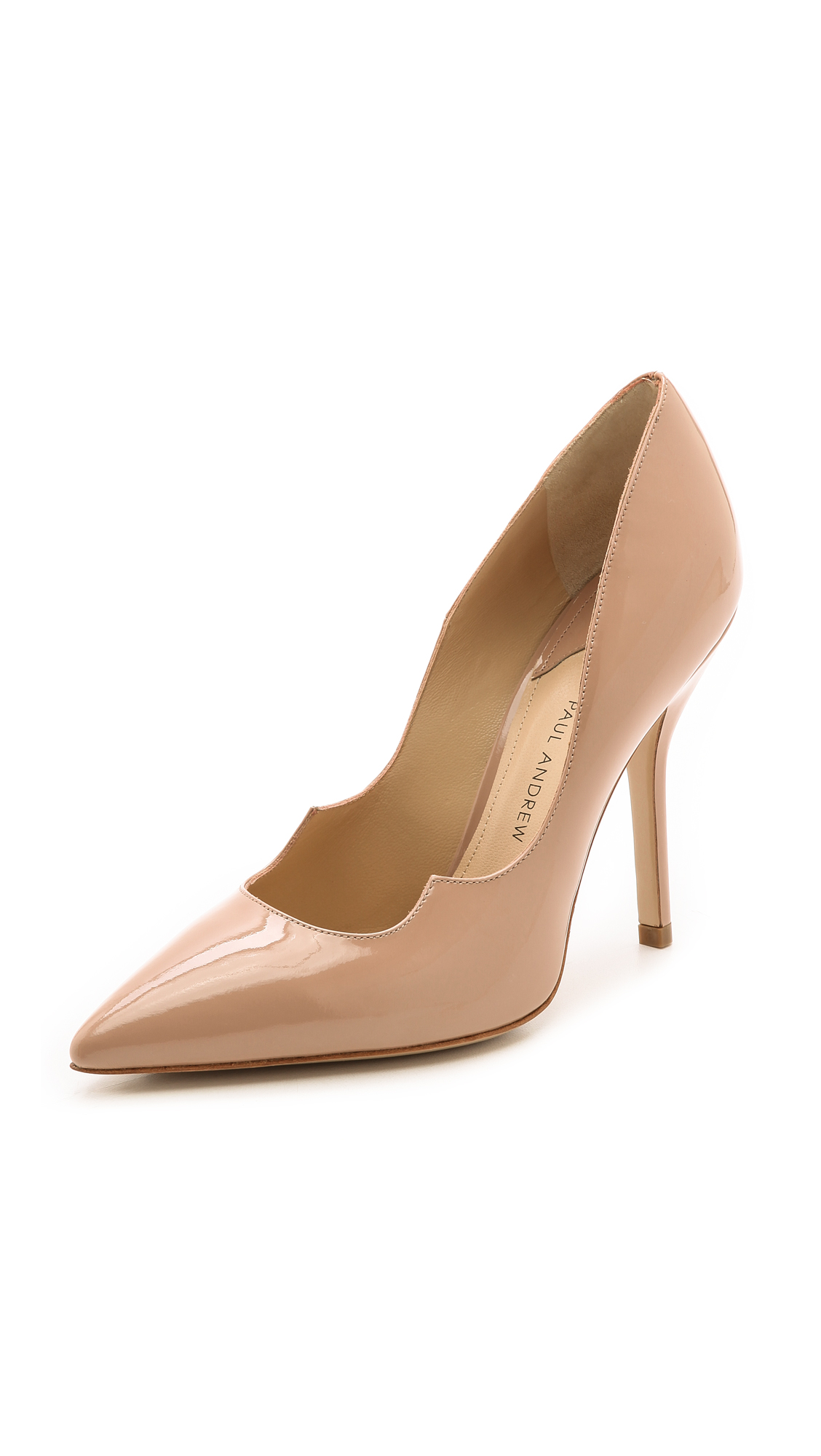 Paul Andrew 105Mm Zenadia Brushed Leather Pumps, Nude
