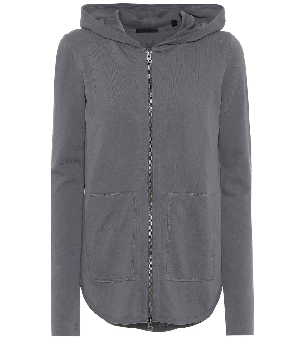 Atm Anthony Thomas Melillo French Cotton-Terry Hooded Top In Grey