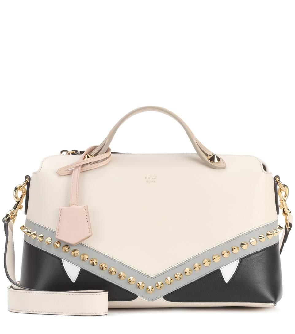 Fendi By The Way Small Leather Shoulder Bag In Neutrals