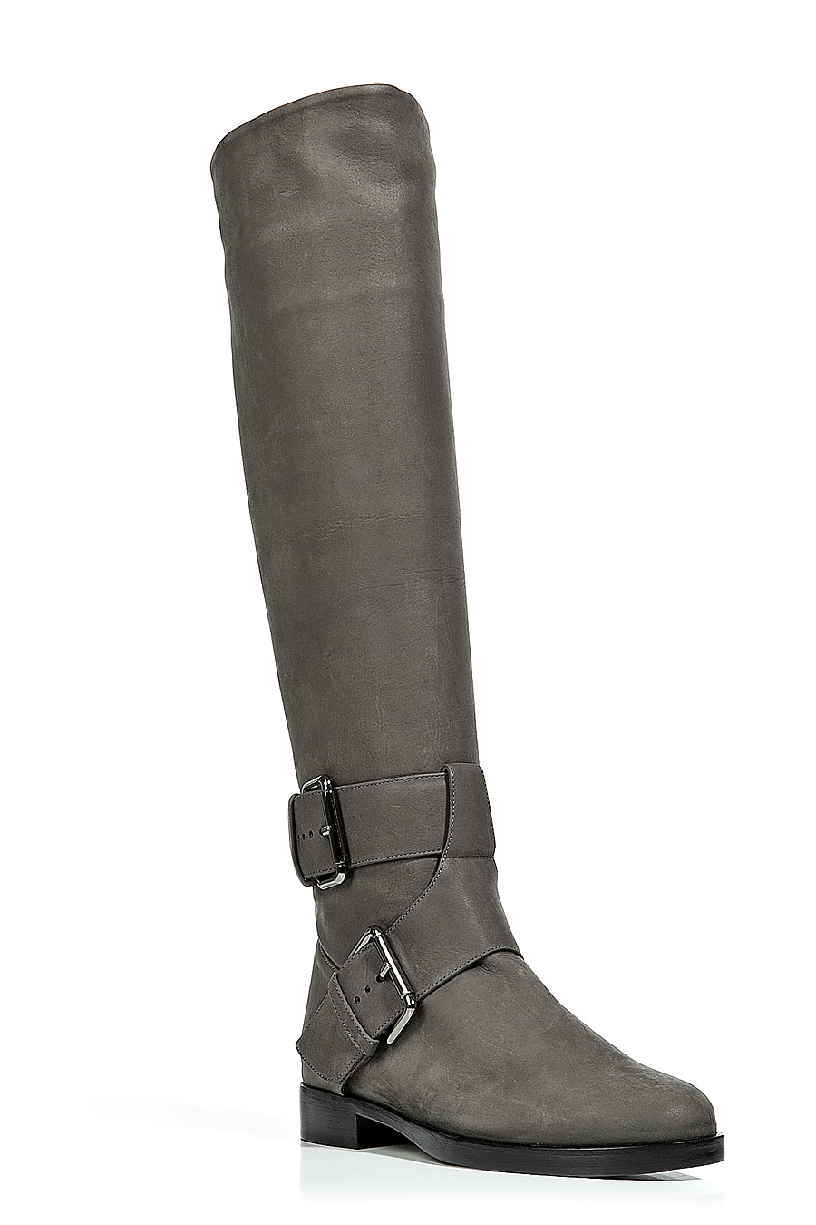 Pierre Hardy Buckle Knee-High Boots In Grey