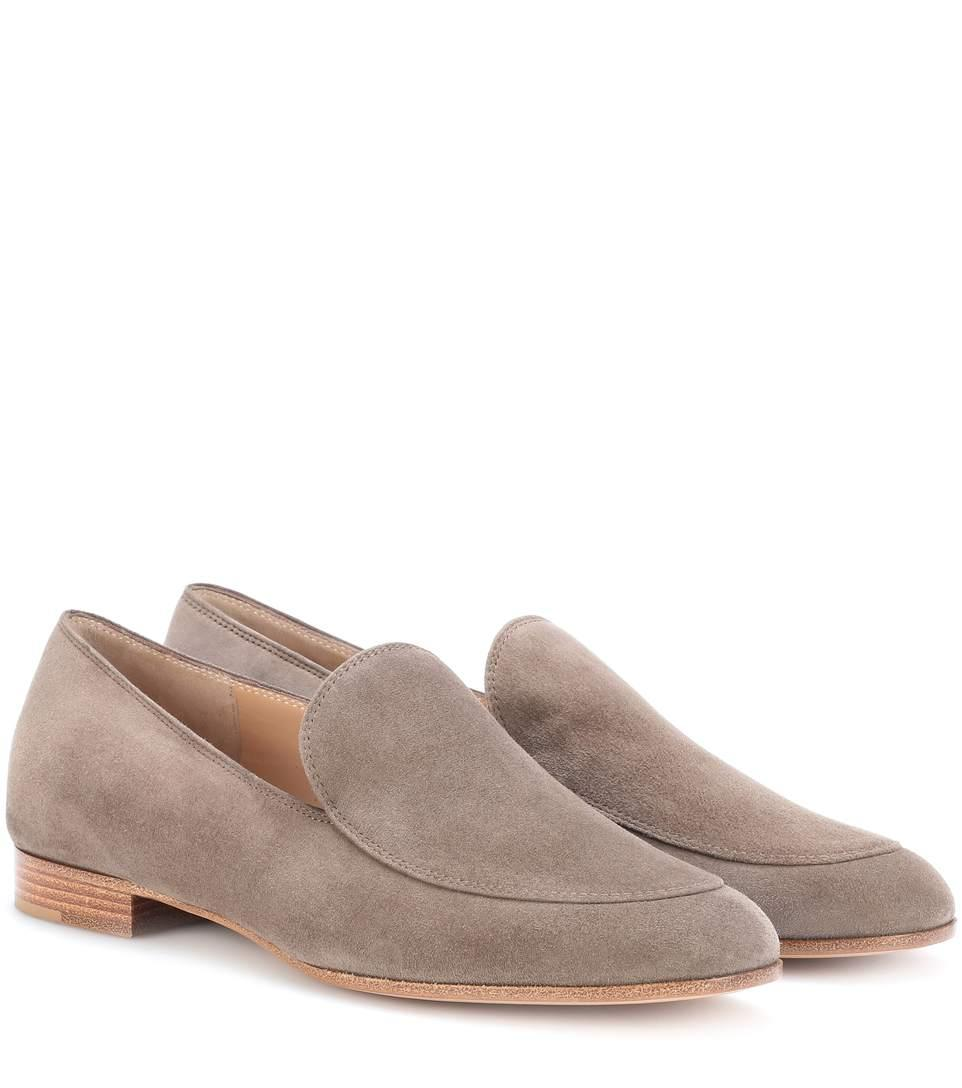 Gianvito Rossi Exclusive To Mytheresa.Com - Marcel Suede Loafers In Beige