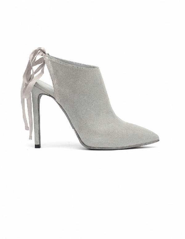 A.F.Vandevorst Suede Ankle Boots In Grey