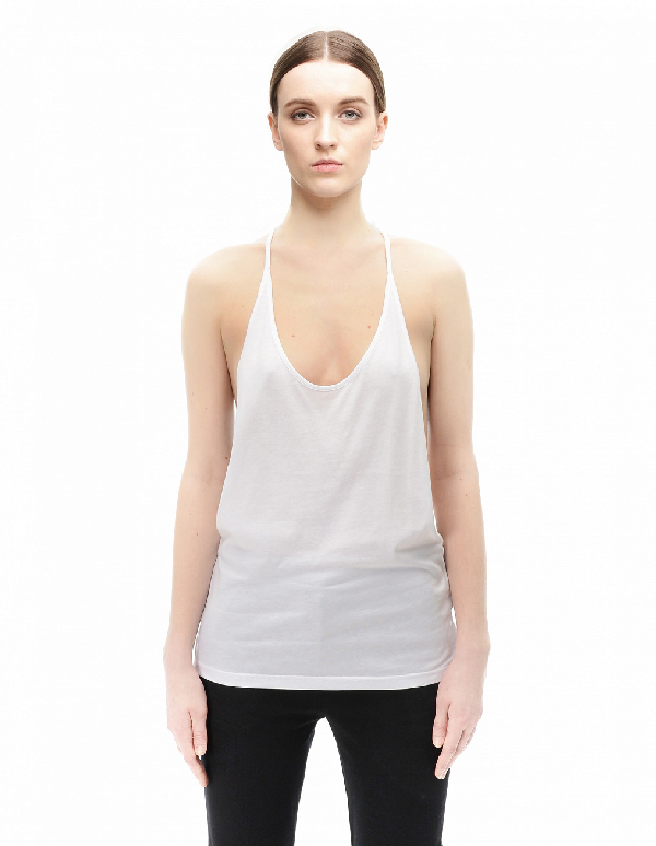 Ann Demeulemeester Cotton  And Rayon Top In White