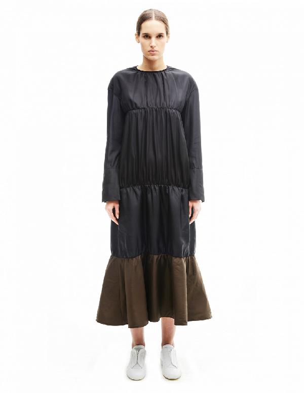 Marni Silk And Acetate Dress In Black