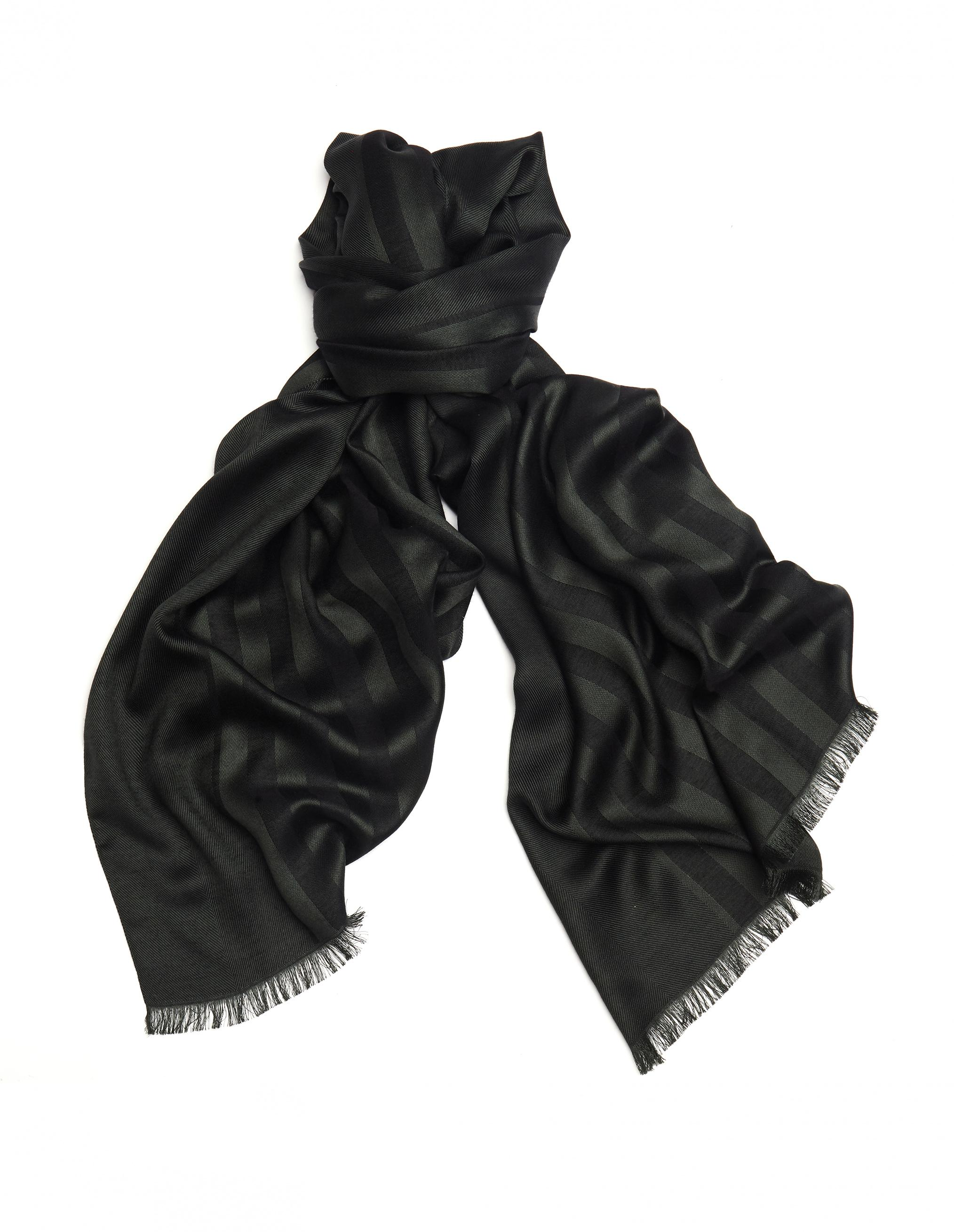 Haider Ackermann Silk And Wool Blend Striped Scarf In Multicolor