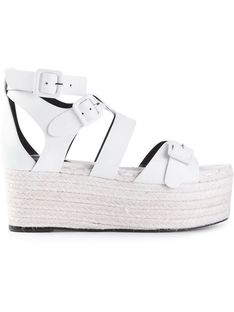 Pierre Hardy White Casual Platform Sandals