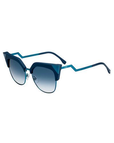 2047943cfa Iridia Mirrored Cat-Eye Sunglasses, Blue