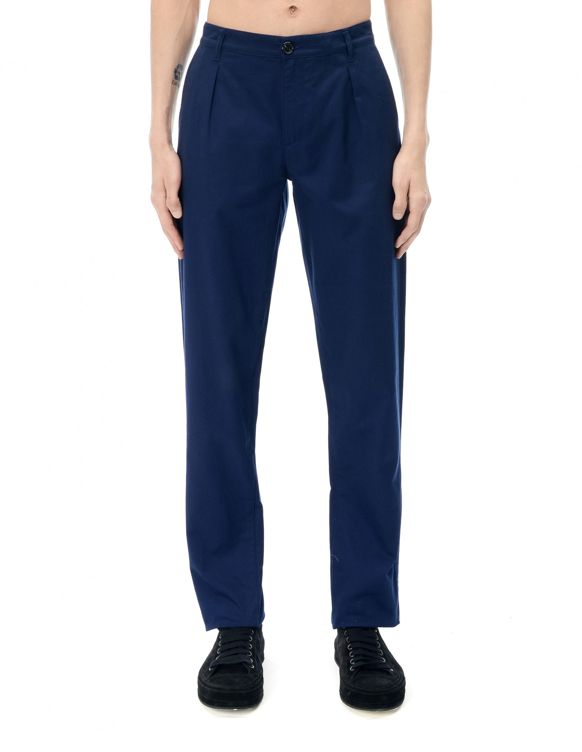 Raf Simons Cotton Trousers In Blue