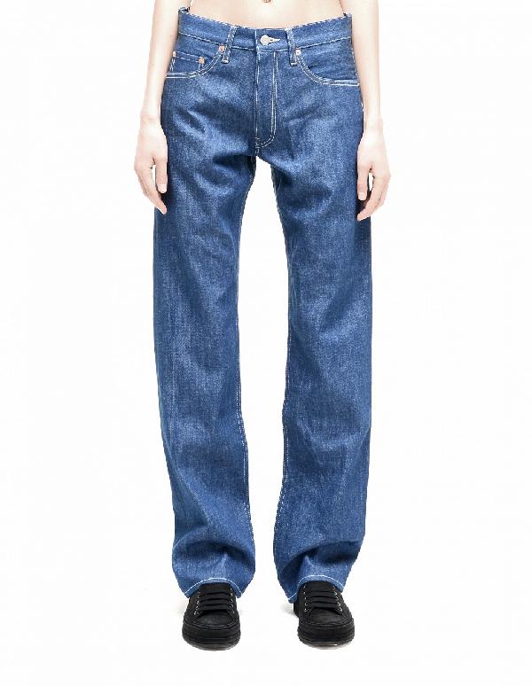 Yohji Yamamoto Cotton Jeans In Blue