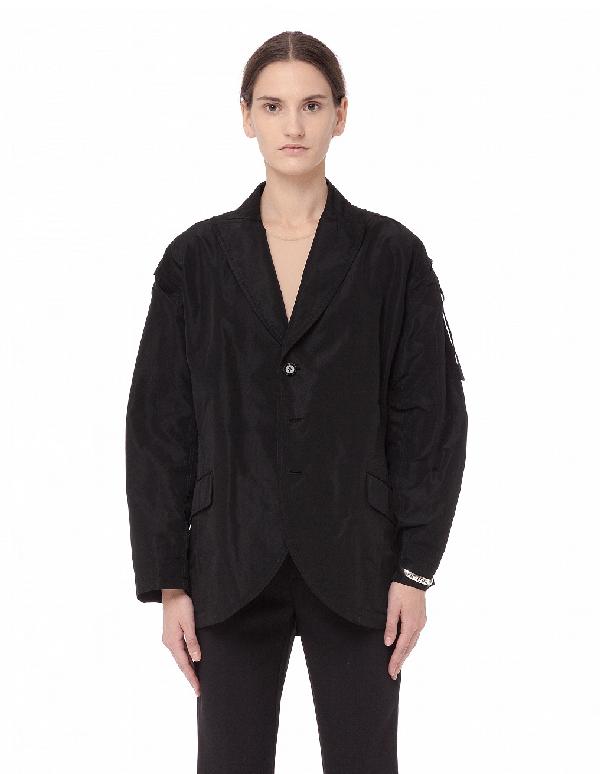 Yohji Yamamoto Triacetate Jacket In Black