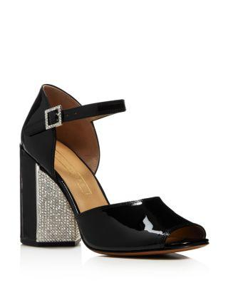 09641a0c05c Marc Jacobs Women S Kasia Embellished Patent Leather Block Heel Sandals In  Black