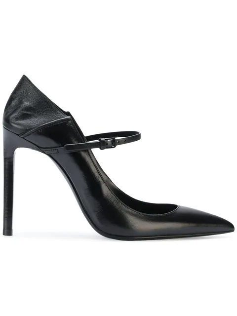 Saint Laurent 105Mm Majorelle Leather Pumps In Black