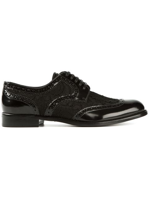 Dolce & Gabbana Derby In Leather With Studs In Black