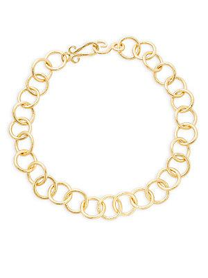 Stephanie Kantis Classic Link Choker Necklace In Gold