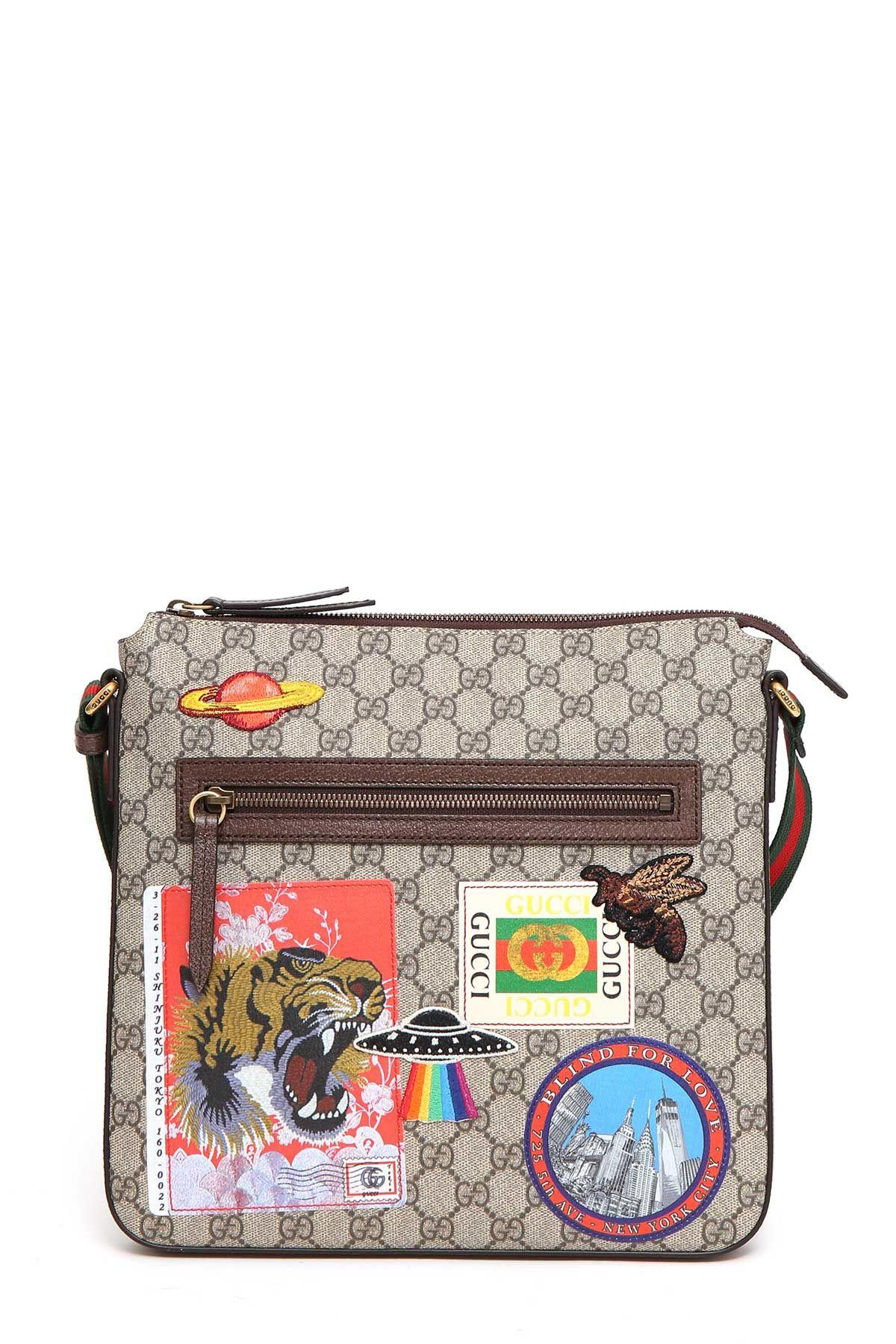 5166c6c41c2 Gucci Gg Supreme Fabric Courrier Bag In Beige Ebony-Multi