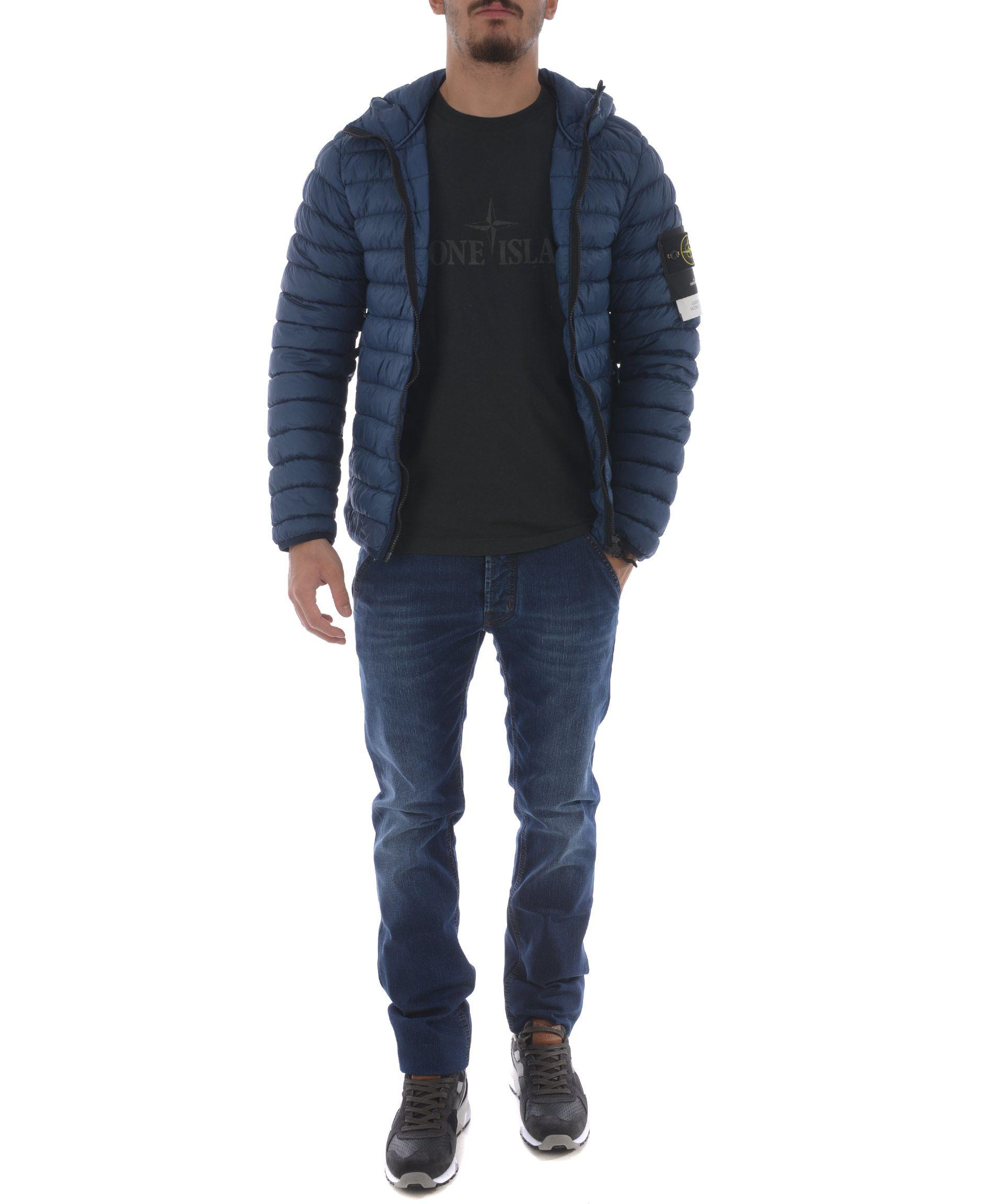 pre order special for shoe exquisite style Stone Island Garment Dyed Micro Yarn Down Jacket In Avion | ModeSens