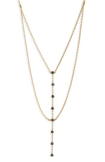 Madewell Nuit Layered Lariat Necklace In Gold Ox