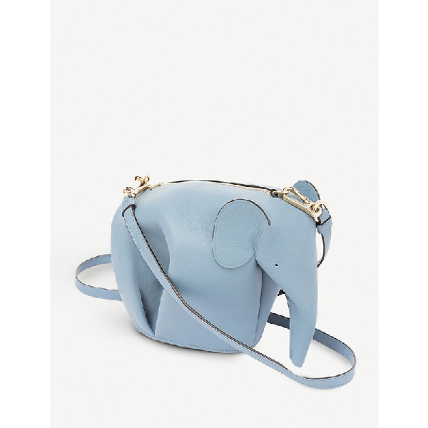 53b0ee1d7 Loewe Elephant Minibag Leather Shoulder Bag In Stone Blue | ModeSens
