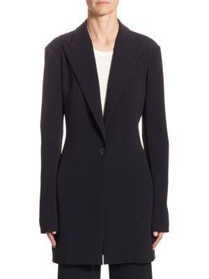 The Row Jaymin Stretch-Cady Jacket In Black