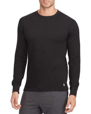 1af1f74611 Polo Ralph Lauren Long Sleeve Crewneck Lounge Shirt In Polo Black ...