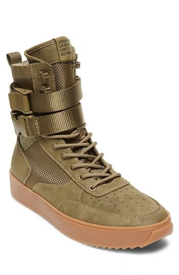 27827da0311 Steve Madden Men s Zeroday High-Top Sneakers Men s Shoes In Olive ...
