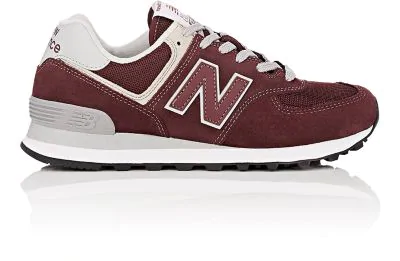 New Balance 574 Classic Suede & Mesh Sneakers In Wine
