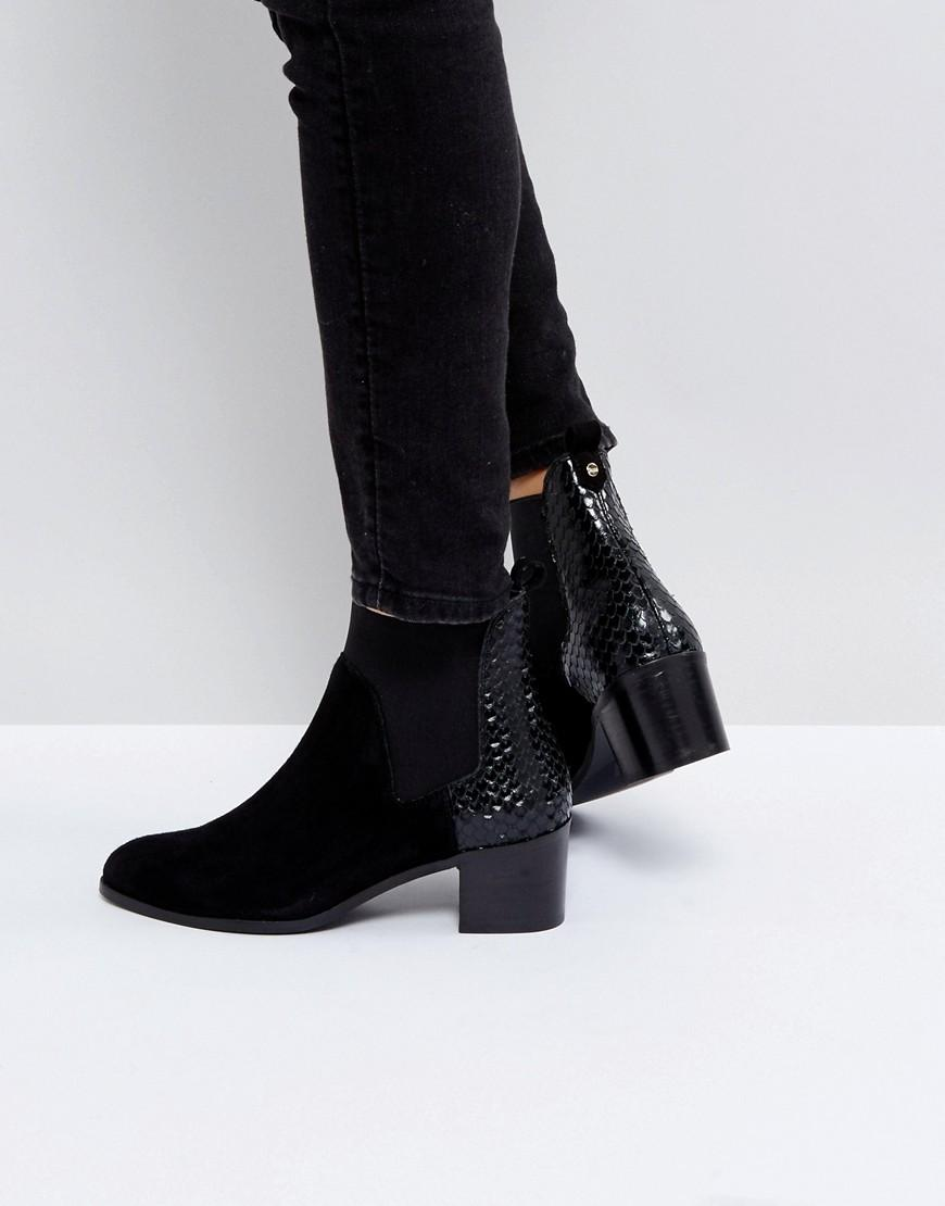 35e802ab4b0a Dune London Oprentice Heeled Ankle Boots - Black | ModeSens