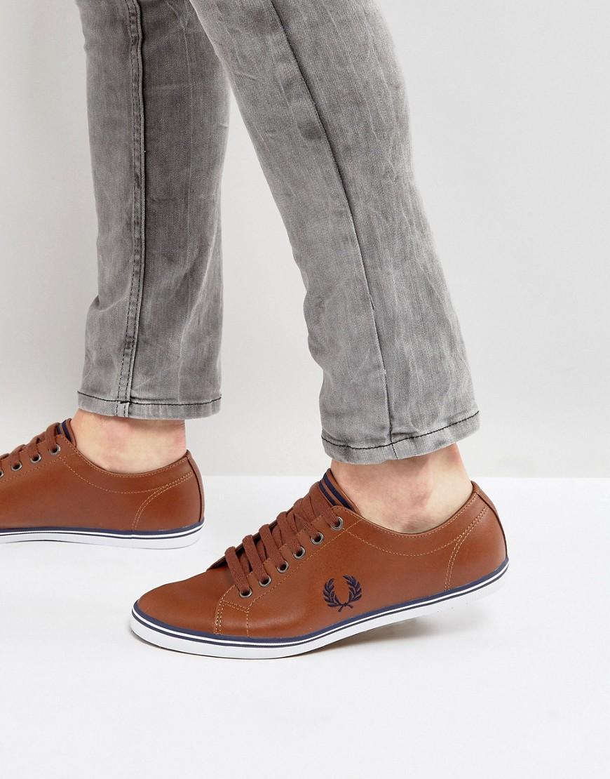 Kingston Leather Sneakers In Tan Tan