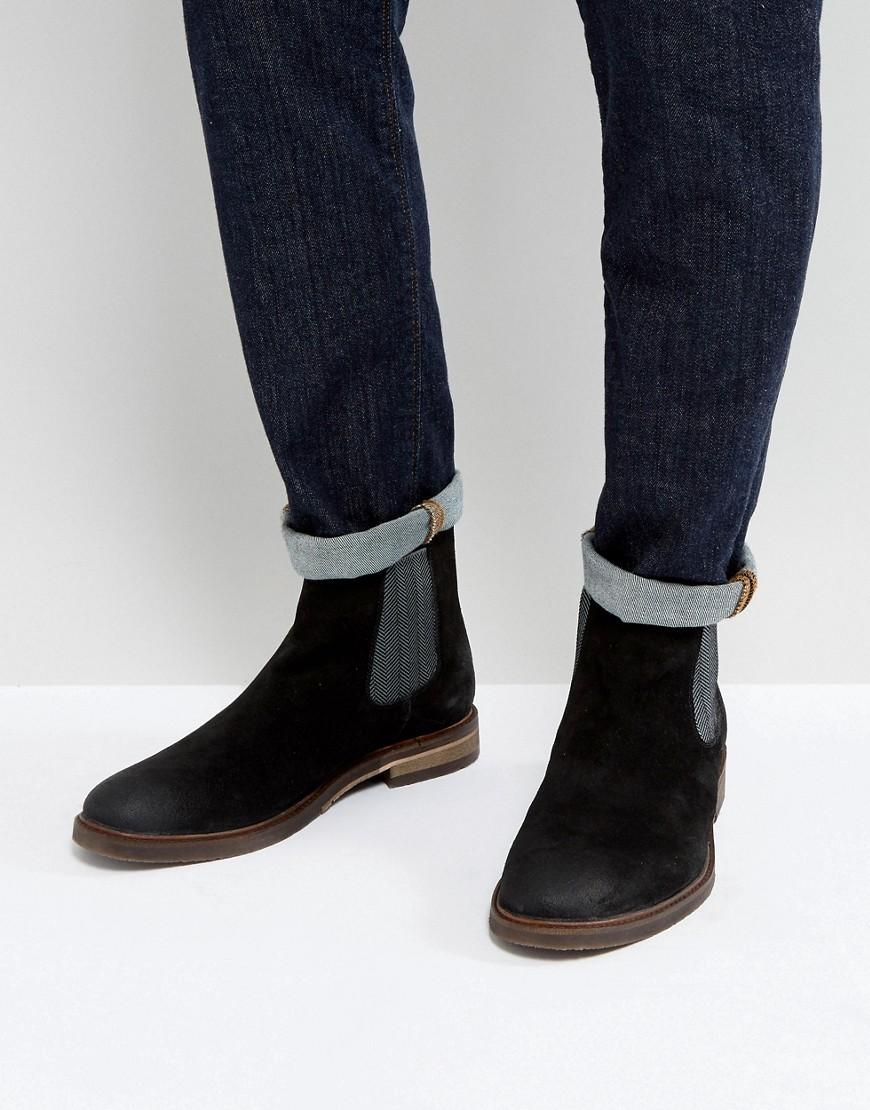 131bc913f72 Teller Suede Chelsea Boots In Black - Black