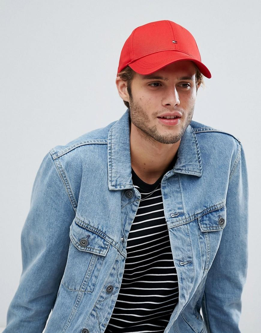 f38810abb5 Tommy Hilfiger Classic Flag Baseball Cap - Red | ModeSens