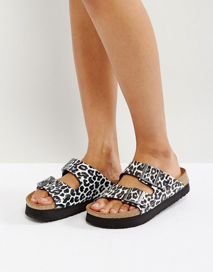 6aaa78fa854 Birkenstock Papillio By Arizona Birko Leo White Platform Sandals - White