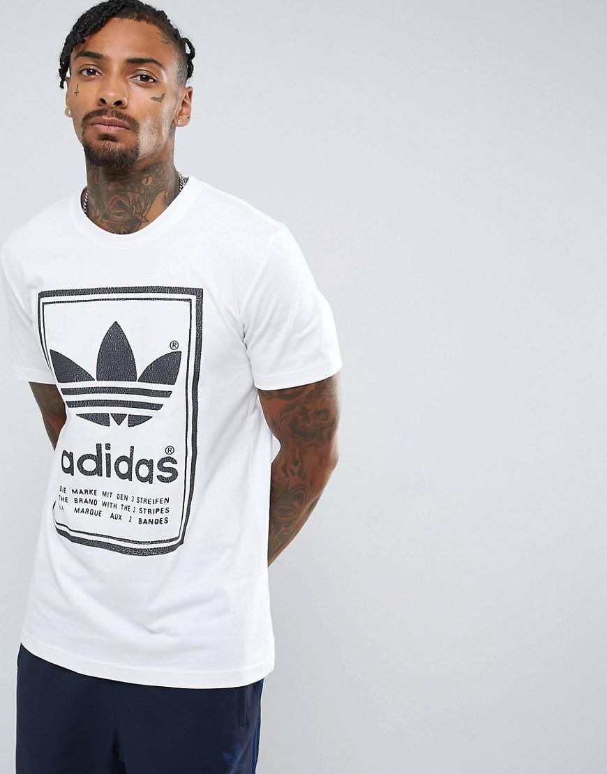 3d1829e13 Adidas Originals Japan Archive T-Shirt In White Br6964 - White ...