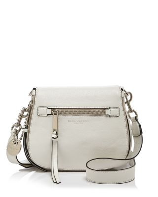 1f5987e681 Marc Jacobs Recruit Small Leather Saddle Crossbody Bag In Off White ...