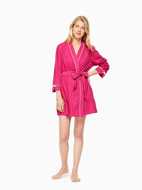 Kate Spade Long-sleeve Robe In Raspberry Print