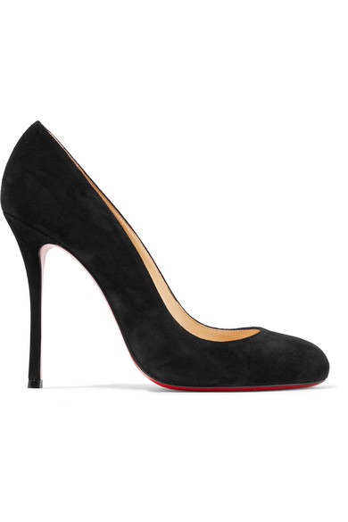 Christian Louboutin Fifetish 100 Suede Pumps In Black