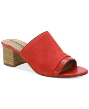fbc54f14346 Daisie Slide On Mules Women's Shoes in Coral Suede
