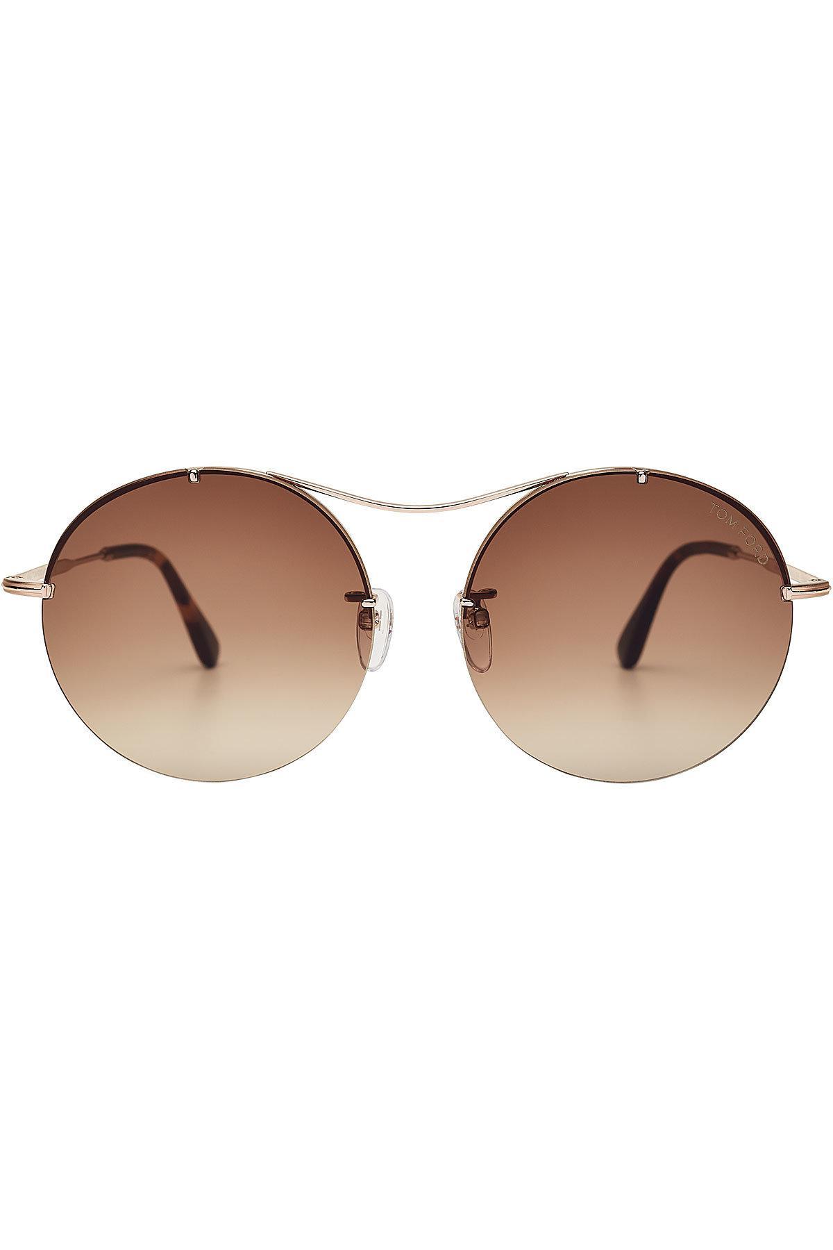 Tom Ford Round Sunglasses In Multicolored