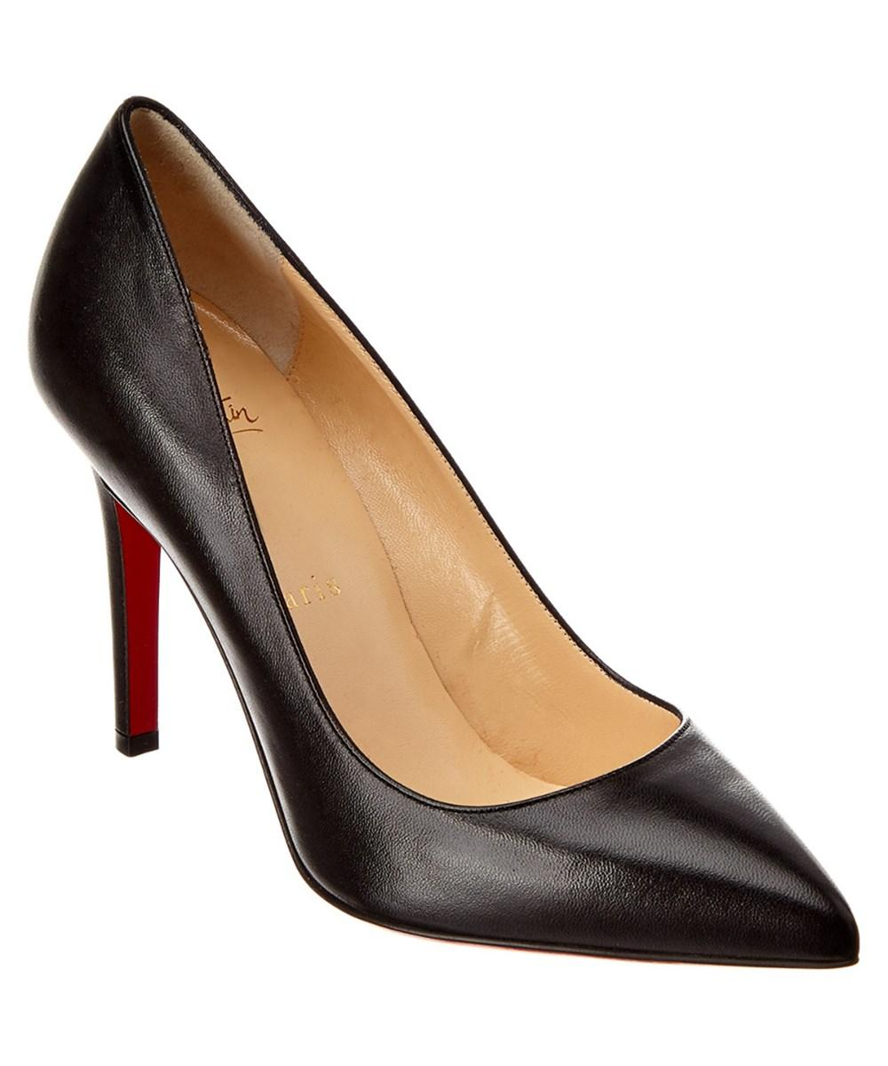 timeless design f1d78 77b96 Christian Louboutin Women's So Kate Black Patent Leather Pumps in Brown