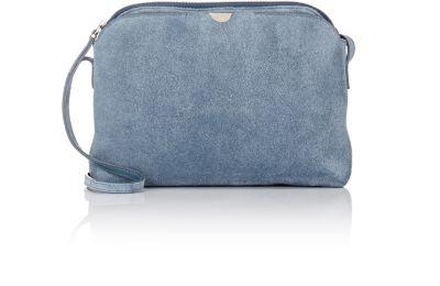 a069e71df The Row Multi-Pouch Suede Crossbody Bag, Topaz Blue   ModeSens