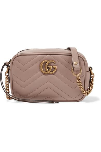 Sky blue GG Marmont Camera mini quilted leather shoulder