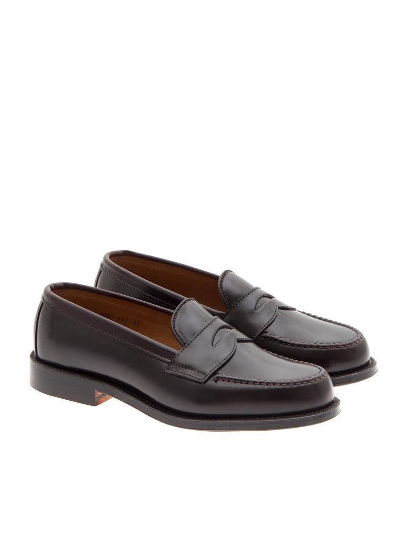 1f02ef1d86b7 Alden Shoe Company Loafer Leather In Bordeaux