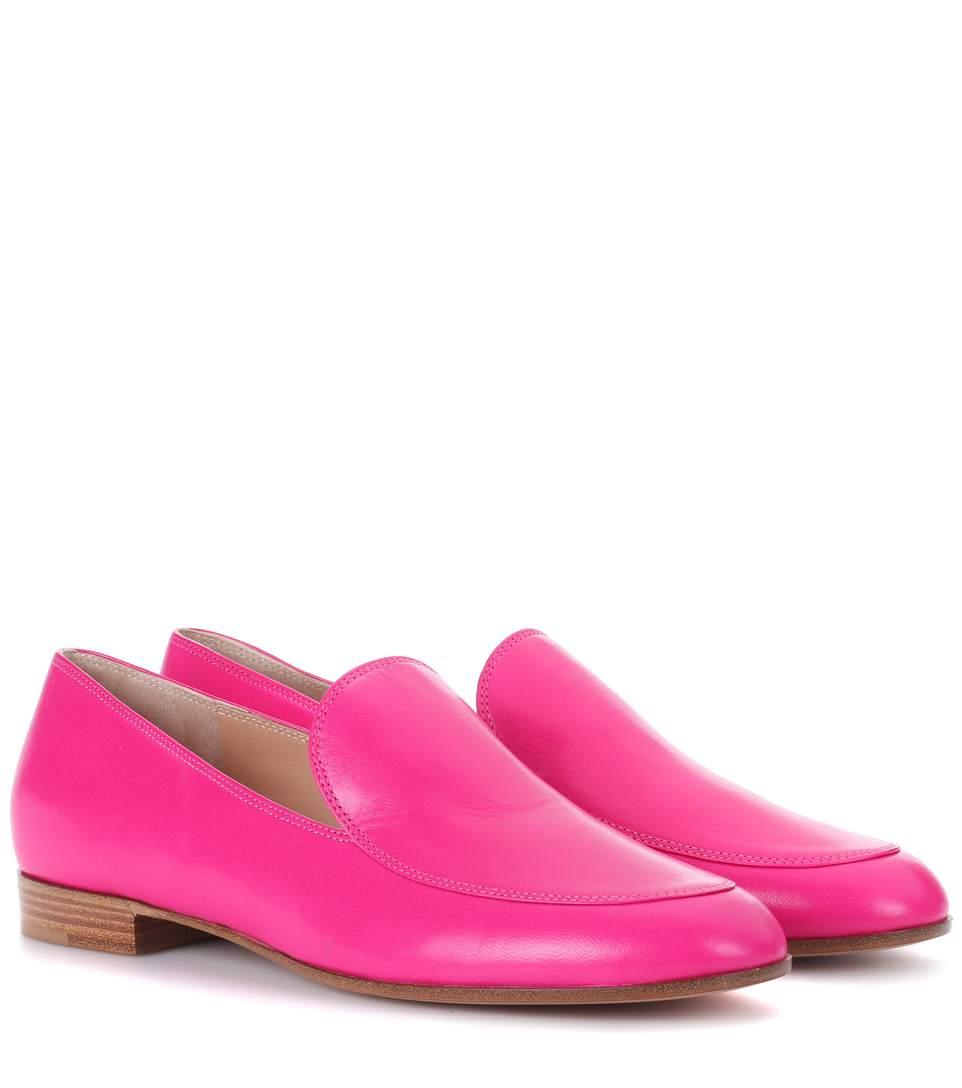 Gianvito Rossi Exclusive To Mytheresa.Com - Leather Loafers In Pink