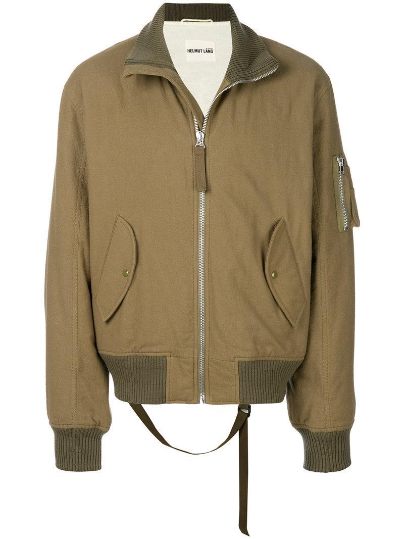 Helmut Lang High-Collar Bomber Jacket