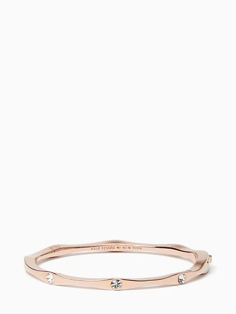 9e381bd1a4852 Kate Spade Heavy Metals Wave Bangle In Clear Rose Gold