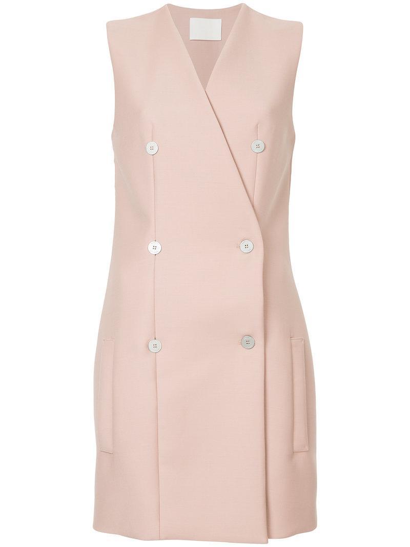 Dion Lee Nautical Mini Dress In Pink & Purple